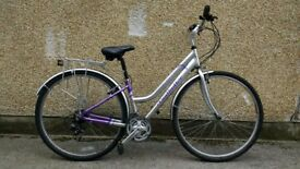 "Ladies Hybrid bike 15"" city bicycle with mudguards"