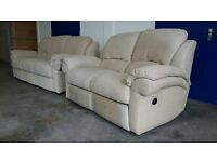 G-PLAN FABRIC SOFAS SET 3 SEATER & 2 SEATER ELECTRIC RECLINER / RECLINING SOFA / SUITE / SETTEE