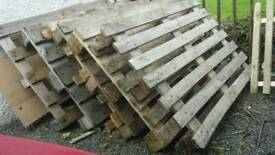 Pallets £2 each or £10 for all 6
