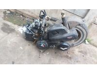Fully running lexmoto 125cc moped scooter engine complete