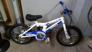 Vélo pour enfant Louis garneau police f16 bleu/blanc 1 vitesse roues 16po