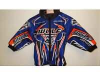 wulfsportjacket motocross motox quad kids youth blue orange size 24 age approx 3-4