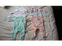 0-3 baby girl sleepsuits
