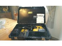 Lightly used Dewalt DC223 SDS cordless three function drill set, boxed, see photos and details