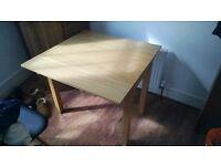 Ikea BJURSTA Extendable dining / study table in birch veneer