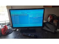 24 inch lcd tv built in dvd freeview
