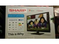 """Sharp 22"""" T.V. with built-in dvd player"""
