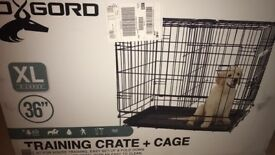 LARGE CRATE FOR DOGS/ 2 DOORS.