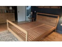 Stylish Solid Oak Scandinavian Bedframe (+ Optional Mattress)