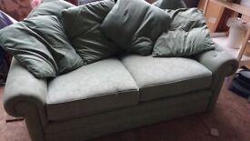 Laura Ashley Green Sofa