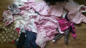 Bundle of baby clothes age 3 - 6 months