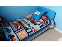 Boys Blue Ikea Mammut Bed with Mattress!