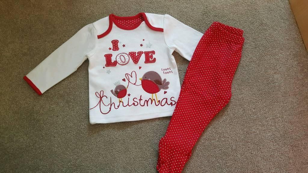 Baby Xmas Pyjama Set 3-6months New