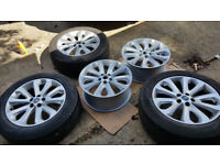 """5x 20"""" Range Rover Land Rover Discovery alloy wheels (2 newly refurbished) VW Transporter"""