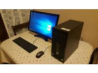 HP ProDesk core i5 pc with 24 inch LED Monitor