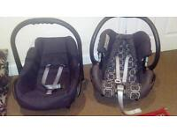 Two sets of baby car seats
