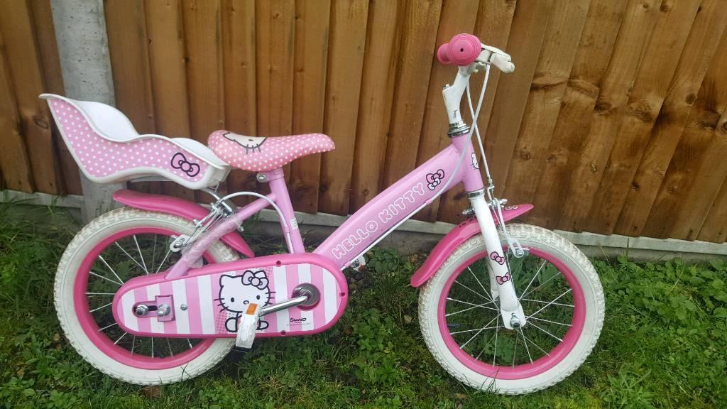 """Girls 14"""" hello kitty bike"""