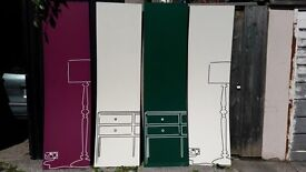 Four shop display boards