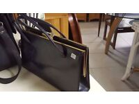 Blue And Gold Handbag in Good Condition
