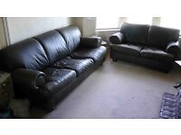 Barker and Stonehouse 3 piece fine leather suite in very good condition