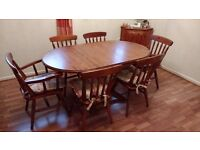 Ducal Dining Furniture Table & 6 chairs excellent condition