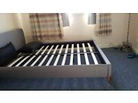King Size bed frame (1 broken leg)