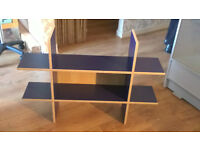 Blue Wooden Shelf Display Unit (Taking Offers - Need Quick Sale)