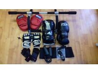 !_(£49) Reebok/ADIDAS Boxing Gloves, like new + 2 jump jumpbands + adjustable back strap,etc_! .
