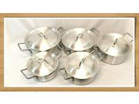 5PC BUDGET ALUMINIUM PAN SET 20 TO 28CM