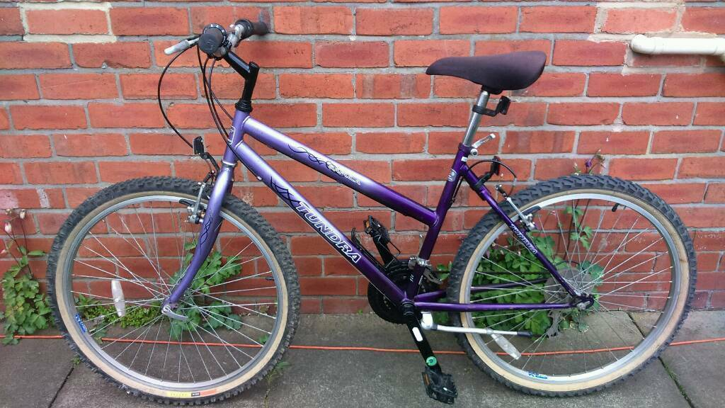 Ladies Tundra mountain bike 18 inch frame good working condition and ready to ridein Sunniside, Tyne and WearGumtree - 26 inch wheels with very good tyres, 21 speed gripshift gears, good brakes, good seat, stand, bottle holder, can deliver for cost of fuel, contact bill 07478309256 sunniside NE16 5NU