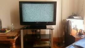 """32"""" Panasonic HDTV & stand"""