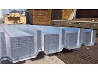 ROOFING SHEETS BOX PROFILE CORRUGATED GALVANISED RIDGE CAPS FLASHINGS, END CAPS FREE DELIVERY !