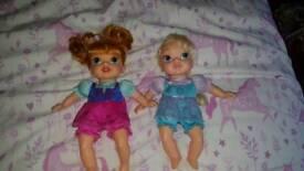 Disneys soft bodied frozen baby dolls