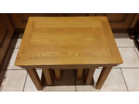 Oak Coffee Table. Largest table of Nest of Tables