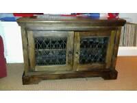 Laura Ashley solid wood corner TV cabinet