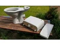 Grey Toilet and Pedestal Sink for sale !