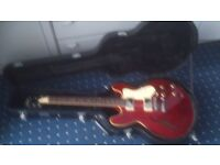 Cherry Red Tanglewood Memphis like Gibson es335