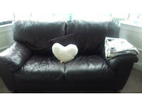 brown leather sofa 2+3 seater. need gone asap
