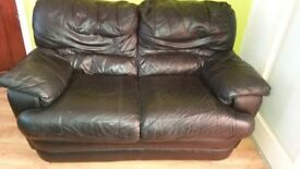 3+2 black leather recliner sofa for quick sale
