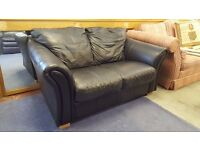 Black Two Seater Sofa - Good Condition