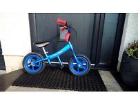 Blue balance bike - good condition