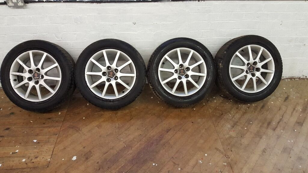saab 9 3 alloy wheels mint tyres 215 55r16 215 55 r16 16 93 9 5 95 alloys in leicester. Black Bedroom Furniture Sets. Home Design Ideas