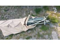 Trailer tent awning poles