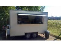 Catering trailer 12x7 twin axle .