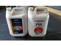 2x 5 litre tubs of PVA building adhesive