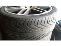 """18"""" wheels with tyres in great condition"""