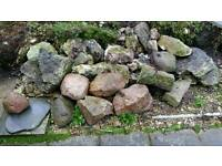 Garden rockery / pond large decorative rocks
