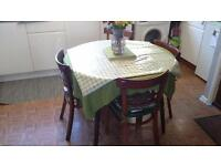 kitchen table + 4 chairs. Waterlooville. bargain. will separate