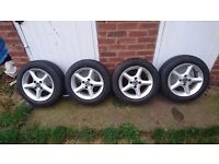 "Set of 14"" Tsw alloys 4 x 100pcd"