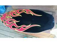 Skim board surfing/campervan/beach
